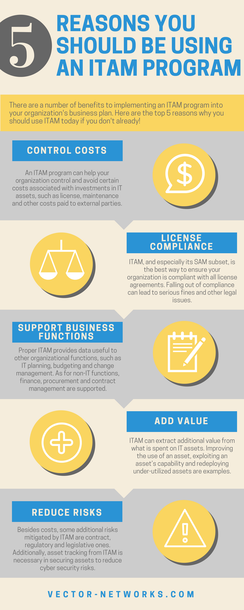 5 Reasons to implement a ITAM program