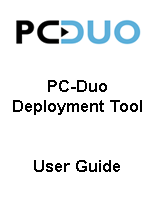 PC Duo User Guide for Deployment Tool