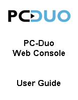 PC Duo User Guide for Web Console