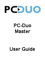 PC Duo User Guide for Master