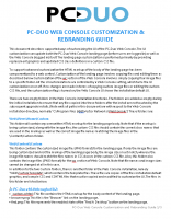 PC-Duo Web Console Customization and Rebranding Guide